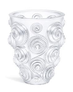 """Lalique """"Spiral"""" Large Vase"""