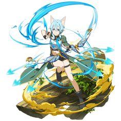 [The World Linking Arrow] Sinon Strong Female Anime Characters, Sao Characters, Sinon Ggo, Kirito, Shino Sao, Asada Shino, Sword Art Online Wallpaper, Anime Crossover, Anime Art Girl