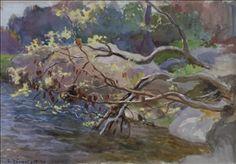 Artwork by Eero Järnefelt, VIRTAAVAA VETTÄ, Made of watercolor