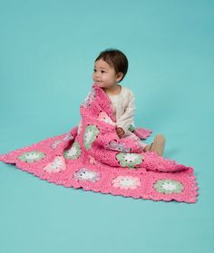 Flower Baby Blanket Crochet Pattern | Red Heart
