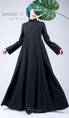 model dress with a removable tie brand Sa Islamic Fashion, Muslim Fashion, Modest Fashion, Fashion Dresses, Modest Dresses, Girls Dresses, Hijab Style Dress, Abaya Style, Mode Abaya