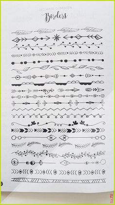 Hand drawn borders - text deviders journal how to draw hands Bullet Journal Inspo, Bullet Journal Headers, Bullet Journal Banner, Bullet Journal 2019, Bullet Journal Notebook, Bullet Journal Aesthetic, Bullet Journal Ideas Pages, Book Journal, Bullet Journals