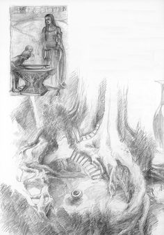 alan_lee_the lord of the rings_sketchbook_07_lothlorien05.jpg (1114×1600)