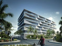 BIG designs honeycomb housing block for the Bahamas