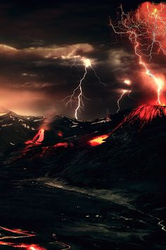 *Breathtaking view of mother nature .* --Bro, this ain't mother nature. This is Mordor, in the land where the shadows lie. All Nature, Science And Nature, Amazing Nature, Beautiful Sky, Beautiful World, Beautiful Landscapes, Nature Pictures, Cool Pictures, Cool Photos