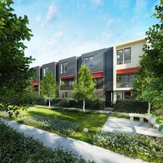 'The Grove' Townhouses in Maidstone, Melbourne by  Conrad Architects