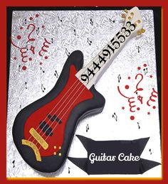 #Guitar_Cake : It's Time To Rock~n~Roll, Best for Music & Rock Theme Party Ideas #cakepark #themecake #birthday #chennai #cake  To order: http://www.cakepark.net/guitar-cp53.html / Call @ 9444915533