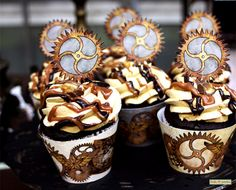 Steampunk Party Cupcake Picks Print At Home by FrolicParties, $2.95