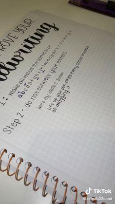 Bullet Journal Lettering Ideas, Bullet Journal Banner, Bullet Journal Notebook, Bullet Journal School, Bullet Journal Ideas Pages, Bullet Journal Writing Styles, Making A Bullet Journal, Handwriting Examples, Improve Handwriting