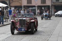 The passage in Piazza Erbe some auto Gp Nuvolari