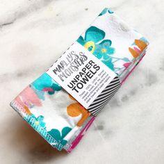 6 Unpaper Towels. Assorted Prints. Eco friendly living. Kitchen & Home. Reusable + Washable.