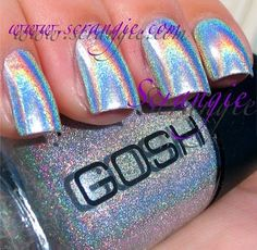 Linear silver holographic.....fun for summer!