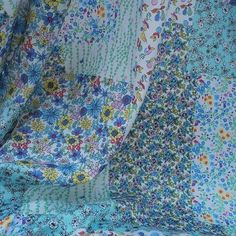 Country garden - Mint cotton hotchpotch/patchworl design £8.50 p/m Croft Mill