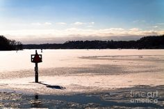 Frozen Irondequcit Bay on Lake Ontario near Rochester, NY by William Norton