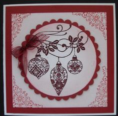Red baubles Christmas Cards, Frame, Red, Home Decor, Christmas E Cards, Picture Frame, Decoration Home, Room Decor, Xmas Cards