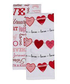 Look what I found on #zulily! Sweet Valentine Dishtowel - Set of Two #zulilyfinds