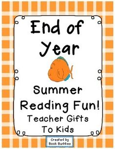 This is such a quick and easy end of school year gift for busy teachers to give as a meaningful, fun gift to students. Lots of great reading suggestions are included in a variety of genres, as well as a summer reading log for your kids, and gift cards for you to personalize. | by Book Buddies