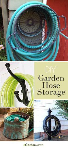 repurpose a galvanized bucket for rustic garden hose wrap storage garten pinterest. Black Bedroom Furniture Sets. Home Design Ideas
