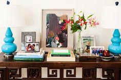 (via Vibrant California Cottage - Traditional - Hall - los angeles - by Hillary Thomas Designs)
