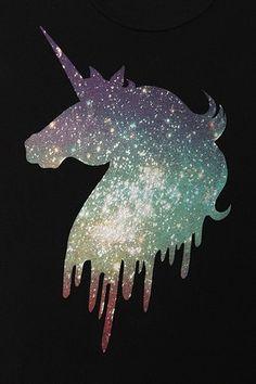 Truly Madly Deeply Galaxy Unicorn Boyfriend Tee