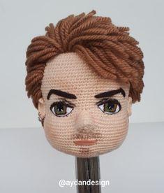 No photo description available. Amigurumi Patterns, Amigurumi Doll, Doll Patterns, Knitted Dolls, Crochet Dolls, Crochet Doll Pattern, Crochet Patterns, Crochet Eyes, Doll Hair