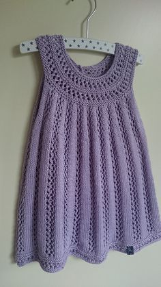 Ravelry: Project Gallery for Elvira pattern by Sanne Bjerregaard Knit Baby Dress, Knitted Baby Cardigan, Knit Baby Sweaters, Crochet Baby Clothes, Knitting Blogs, Knitting For Kids, Baby Knitting Patterns, Baby Patterns, Crochet Girls
