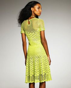 Neon Crochet dress - Oscar de la Renta