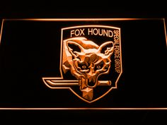Metal Gear Solid Foxhound LED Neon Sign is part of Home Accessories Logo Gears off Remote Battery (not included due to shipping constraints), 20 Static Colors, 19 Dynamic Modes, - Cool Bedroom Accessories, Man Cave Accessories, Light Colors, Vibrant Colors, Colours, Colorful, Raven Logo, Led Wall Clock, Sign Display