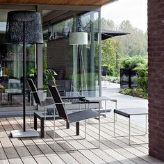FueraDentro CIMA RELAX Modern Outdoor Lounge Chairs | MINIMALIST Garden Furniture Designed By Henk Steenbakkers | High QUALITY Stainless Steel Garden Furniture | FUERADENTRO Luxury Garden Furniture.