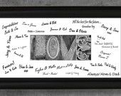 Personalized WEDDING GUEST BOOK - Unique Wedding Guest Book Alternative, Wedding Date Decoration, Framed Date Guestbook Sign In. 69.95, via Etsy.