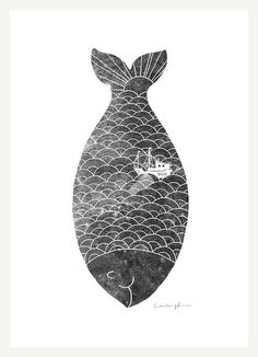 foxontherun:  (via Illustration / fishing in a fish)
