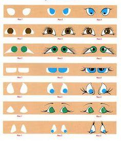 How to paint doll's eyes. artdollstoday.co #dolls #bjd