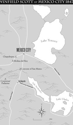 Mexico City Invaded By The Us Army During The Mexican American War Ceureka Cartography