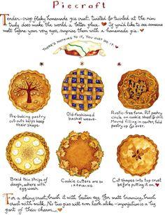 Pie crust craft by Susan Branch Old Recipes, Vintage Recipes, Cooking Recipes, Cookbook Recipes, Recipies, Pie Dessert, Dessert Recipes, Susan Branch Blog, Quiche