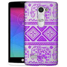 LG Leon Purple Lace Aztec Elephants Clear Case
