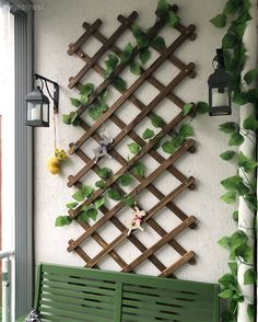 Amazing Balcony Ivy Ideas – Unique Balcony & Garden Decoration and Easy DIY Idea… Balkon – Home Decoration Decor, Small Balcony Decor, Eclectic Design, Porch Trellis, Ivy Wall, Garden Decor, Trending Decor, Plant Decor, House Plants Decor