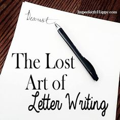 essay on the fading art of letter writing Free sample essay on letter writing indeed letter-writing is an art there are letters very personal, private and they share the subtlest feelings and.