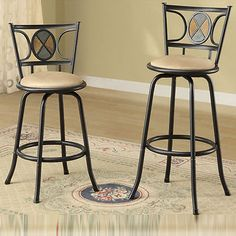 Swivel Barstool Adjustable Set/ 2 Counter Kitchen Seat Pub Modern Stool Table