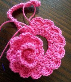 超簡単!かぎ編みで作るバラの花の編み図
