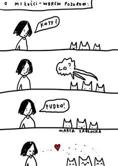 #kot by Marta Zabłocka zycie-na-kreske.blogspot.com Peanuts Comics, Humor, Animals, Fictional Characters, Animales, Animaux, Humour, Funny Photos, Animal