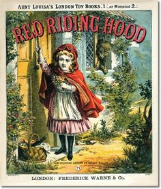 Red Riding Hood 1880 Vintage Fairies, Children's Book Illustration, Book Illustrations, Cover Pics, Red Riding Hood, Little Red, Nursery Rhymes, Vintage Books, Vintage Prints