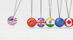 Global Economy International Business Relationship royalty-free stock vector art