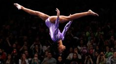Gabby Douglas at US Olympics Trails head and leads the US Women Gymnastics to 2012 London Olympics.