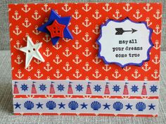 carte,rubans,crafty ribbons,boutons,étoiles,phare,coquillage,ancre,nautical