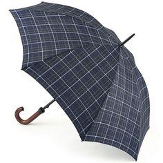 Huntsman - Double Check Gents Walking Length Umbrella - Brolliesgalore