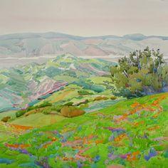 Poppies Above the Bay #mountdiablo #art #watercolor