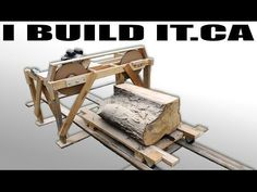 Making A Wooden Band Saw Mill From Scratch - Full Build - YouTube