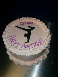 Gymnastics cake for a girl's birthday