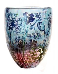 Jonathan Harris hand carved Intrinsic wildness dandelion vase