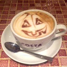 White Acres Holiday Park - We've been getting in the spirit with these new Halloween themed Costa stencils!